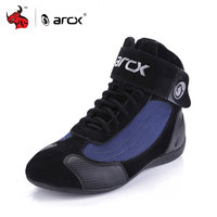 ARCX Genuine Cow Leather Motorcycle Riding Boots Street Moto Racing Ankle Boots Motorbike Chopper Cruiser Touring Biker Shoes