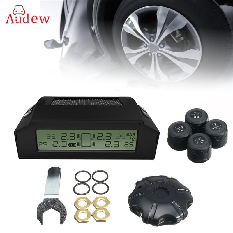 font b TPMS b font Tyre Pressure Monitoring Intelligent System 4 External Sensors Solar Energy