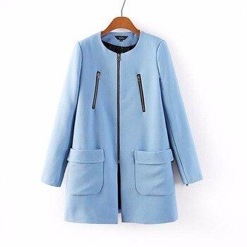 Women Zipper Slim brand desinger Coat