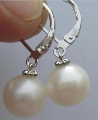 Free Shipping Free Shippng AAA 10-11mm round white south sea pear earring 925silverFree Shipping Free Shippng AAA 10-11mm round white south sea pear earring 925silver