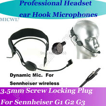 цена на MICWL  Dynamic  Head worn Wireless Headset Microphone for Sennheiser ew G1 G2 G3 Bodypack Mic System