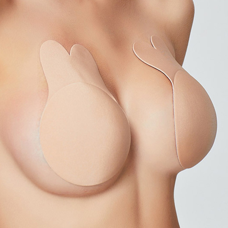 1 Pair Women Self Adhesive Push Up Bra Crop Top Silicone Nipple Cover Stickers Women Invisible Bra Strapless