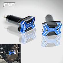 CNC Frame Sliders Crash Pad Falling Protector Guard For Yamaha MT07 MT-07 MT 07 2015-2018 2017 engine protection cover