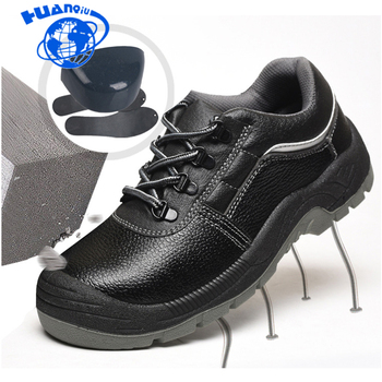 HUANQIU wiosna modne skórzane buty mężczyźni wodoodporna stalowe noski na palce u stóp buty robocze BHP antypoślizgowe platformy buty narzędziowe mężczyźni ZLL596 tanie i dobre opinie Prawdziwej skóry Skóra bydlęca ANKLE Pracy i bezpieczeństwa Okrągły nosek RUBBER Lace-up Platforma Wiosna jesień