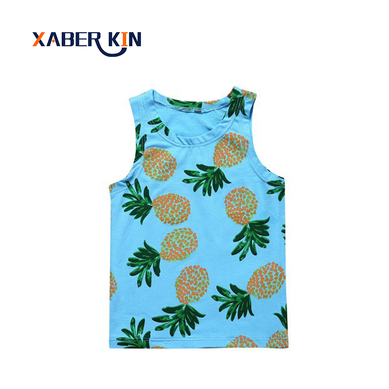 Xaber Kin Summer T-shirts For Baby 2017 0-2 Years Baby Clothes Sleeveless T-shirt Baby Girls&boys Clothes Shirts Clothing