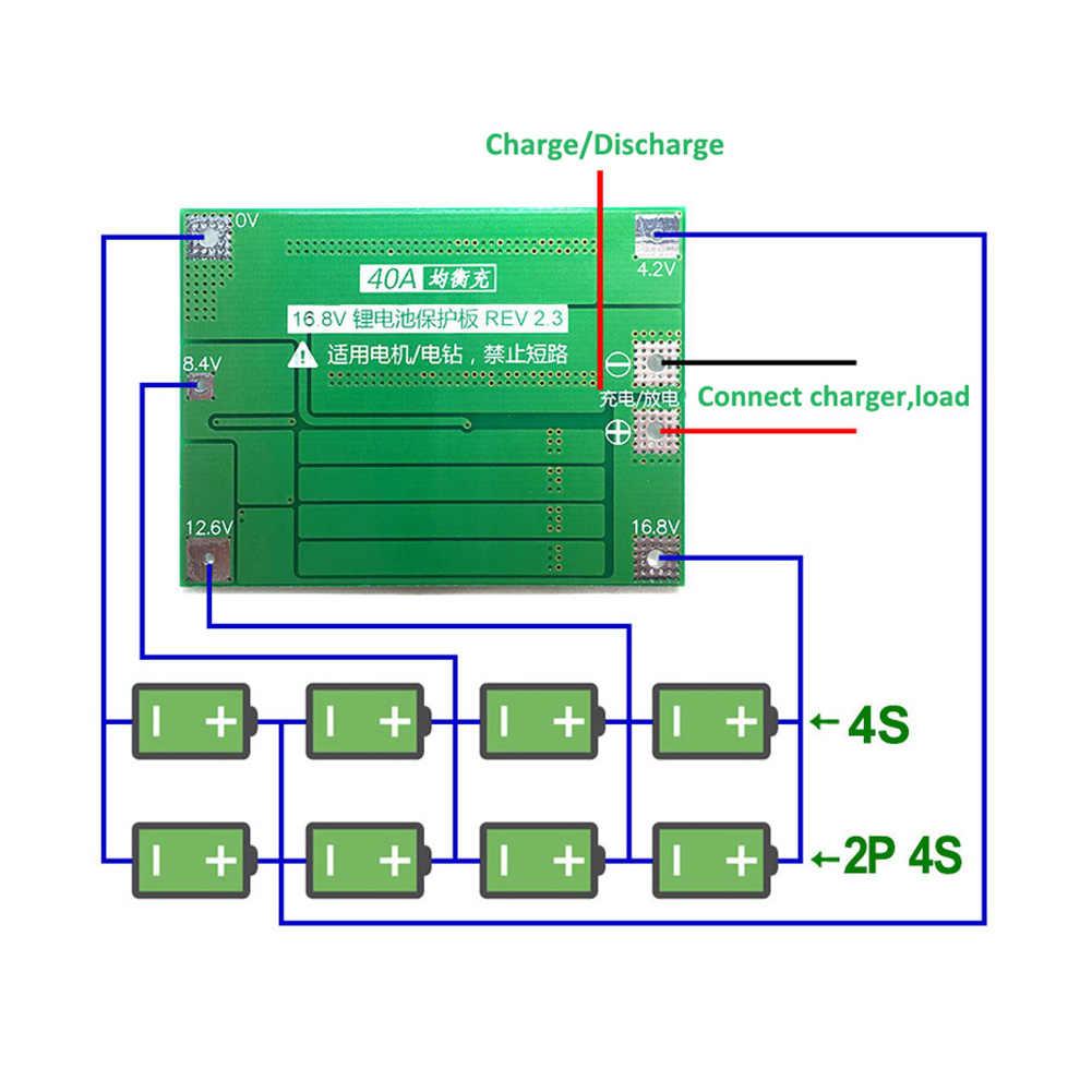4S 40A 4S-40A датчик СМК 14,8 V 16,8 V литий-ионный 18650 26650 Lipo Зарядка для литиевого аккумулятора батарея BMS Защитная плата баланс версия