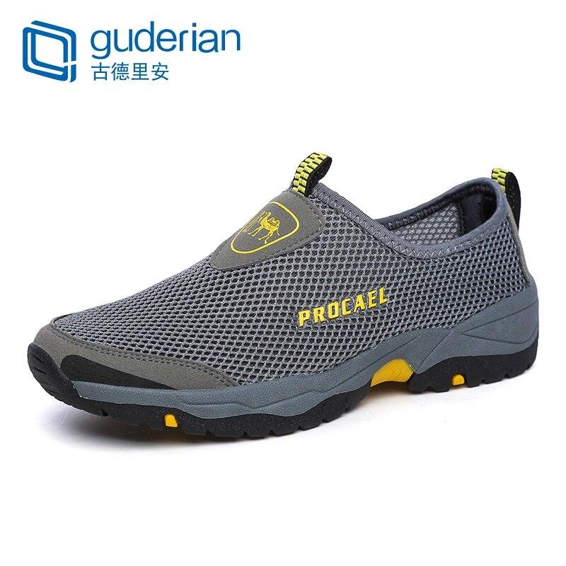 GUDERIAN Mesh Sommer Schuhe Männer Turnschuhe Outdoor Wanderschuhe Casual Schuhe Männer Atmungsaktive Hard-Tragen Müßiggänger Männer Schuhe Herren Schuhe