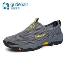 GUDERIAN Mesh Summer Shoes Men Sneakers Outdoor Walking Casual