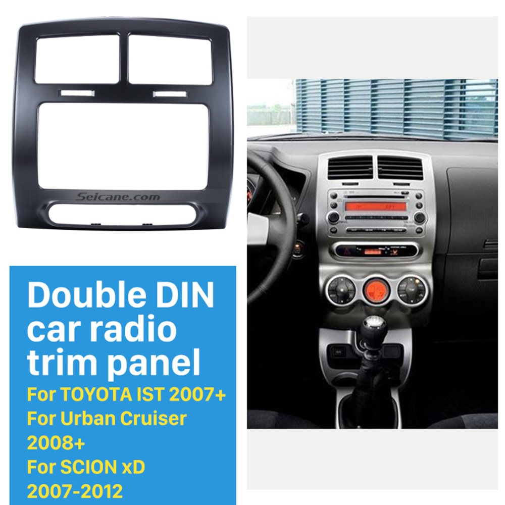 Us 3199 36 Offseicane Popular Double Din Car Radio Fascia For 2007 2010 Toyota Ist Panel Plate Dash Mount Kit Dvd Frame In Fascias From - toyota ist new model 2010
