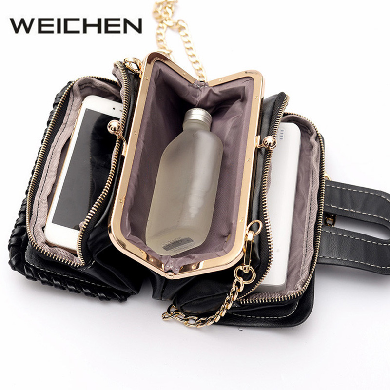 Sequin PU Womens Messenger Bags Black Small Women Crossbody Bags High Quality Fashion Girl Shoulder Bag Female Clutch Bag 2018