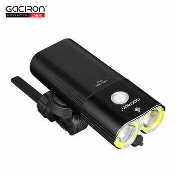 Gaciron Bicycle Headlight Rear Light Suite Pack USB Charge Internal Battery LED Front Tail Lamp Cycling Lighting Visual Warning - DISCOUNT ITEM  31% OFF All Category