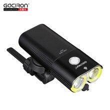 Gaciron faro trasero para bicicleta, paquete de faro trasero con carga USB, batería interna, lámpara LED frontal, iluminación para ciclismo, advertencia Visual