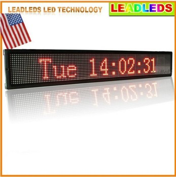 цена на 30 x 6.3 inches Led display indoor wifi Programmable Scrolling Message led sign Board for Business and Store - Red Message