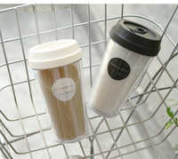 Oneisall Plastic Water Bottle 420ML 15oz Tumbler Cup BPA Free Drinking With Lid For Coffee Tea My Water Bottle