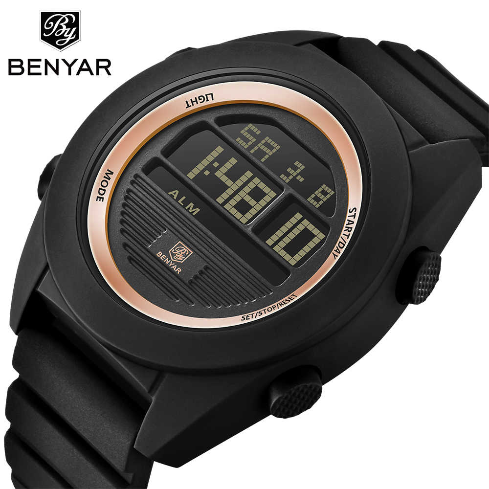 4f5b23ec998 BENYAR Brand Men s Watches LED Digital Watch Men Wrist Watch Black Alarm 30m  Waterproof Sport Watches