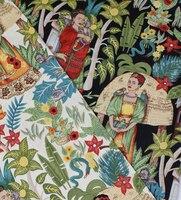 140x100 cm impresiones de algodón de retazos de tela para frida jardín paño mujeres niños diy tilda acolchar bolsa de falda de costura vinta textil