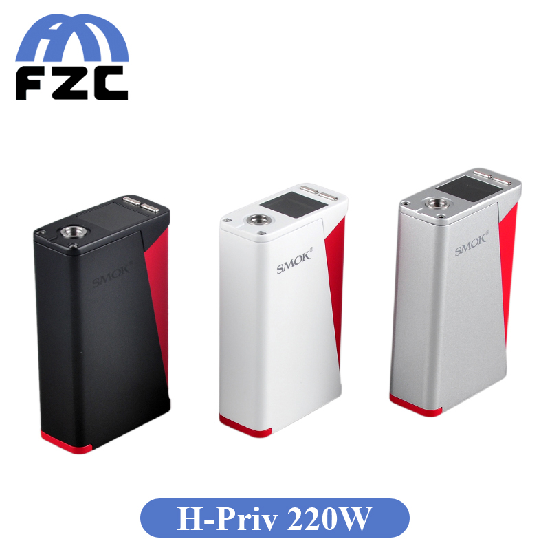 100 Original Red Triangle Design Smok H Priv 220W TC Box Mod Top Screen Display VW