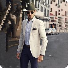 Latest Coat Pants Designs Ivroy Men Suits for Wedding Groom Tuxedo Best Male Blazer Costume Homme 2Piece Terno Masculino