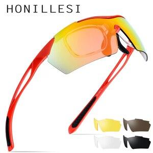 Image 1 - TR90 Gepolariseerde Zonnebril Mannen Hoge Kwaliteit Sport Zonnebril Vrouwen Outdoor Vissen Rijden Bescherming Goggles 5 Lens 8005
