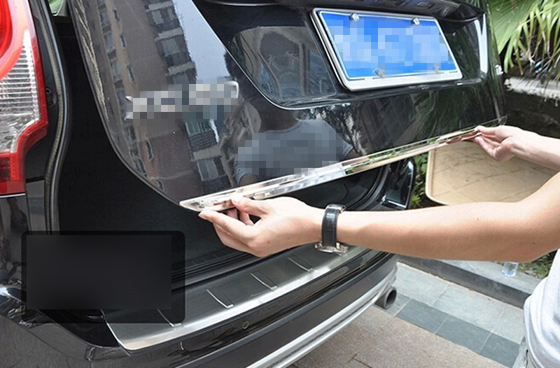 Rear lid door tail gate cover stripe sill trim For VOLVO XC60 xc 60 2015-2009 2014 2013 2012 2011 2010 2009 for suzuki sx4 s cross 2013 2014 automobile chrome rear door trunk lid cover trim car styling stickers accessories