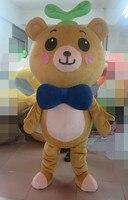 2015 новые индивидуальные Rilakkuma Медведь маскарадный костюм платье взрослый размер