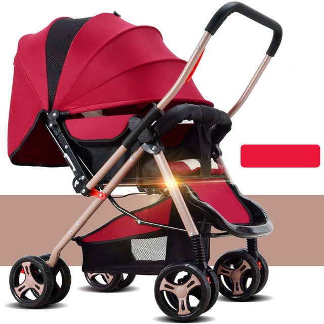 high quality fold baby stroller carbon steel frame plastic wheel and face to mama or face to world remove hand rest plate