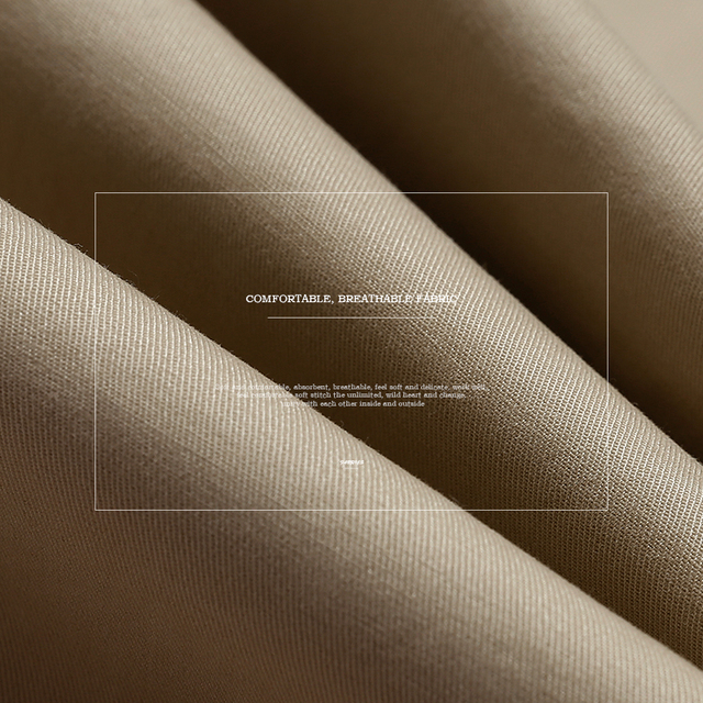Simwood Brand Spring Winter New Fashion 2020 Slim Straight Men Casual Pants 100% Pure Cotton Man Trousers Plus Size  KX6033 2