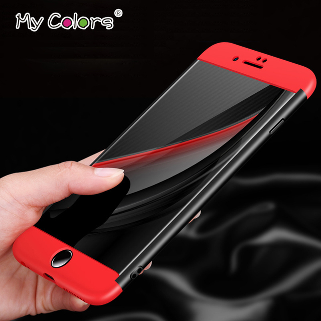 My Colors 3 in 1 Phone Case for iphone 7 Case 6s 8 plus cover for iphone 6 case shell Hard PC Full coverage Protection