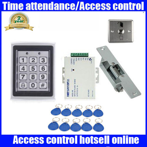 Waterproof Diy Full Complete Rfid Door Access Control Kit +Electric Strike Lock animal dolls complete diy kit assorted