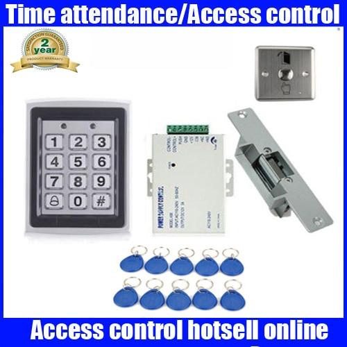Waterproof Diy Full Complete Rfid Door Access Control Kit +Electric Strike Lock digital electric best rfid hotel electronic door lock for flat apartment