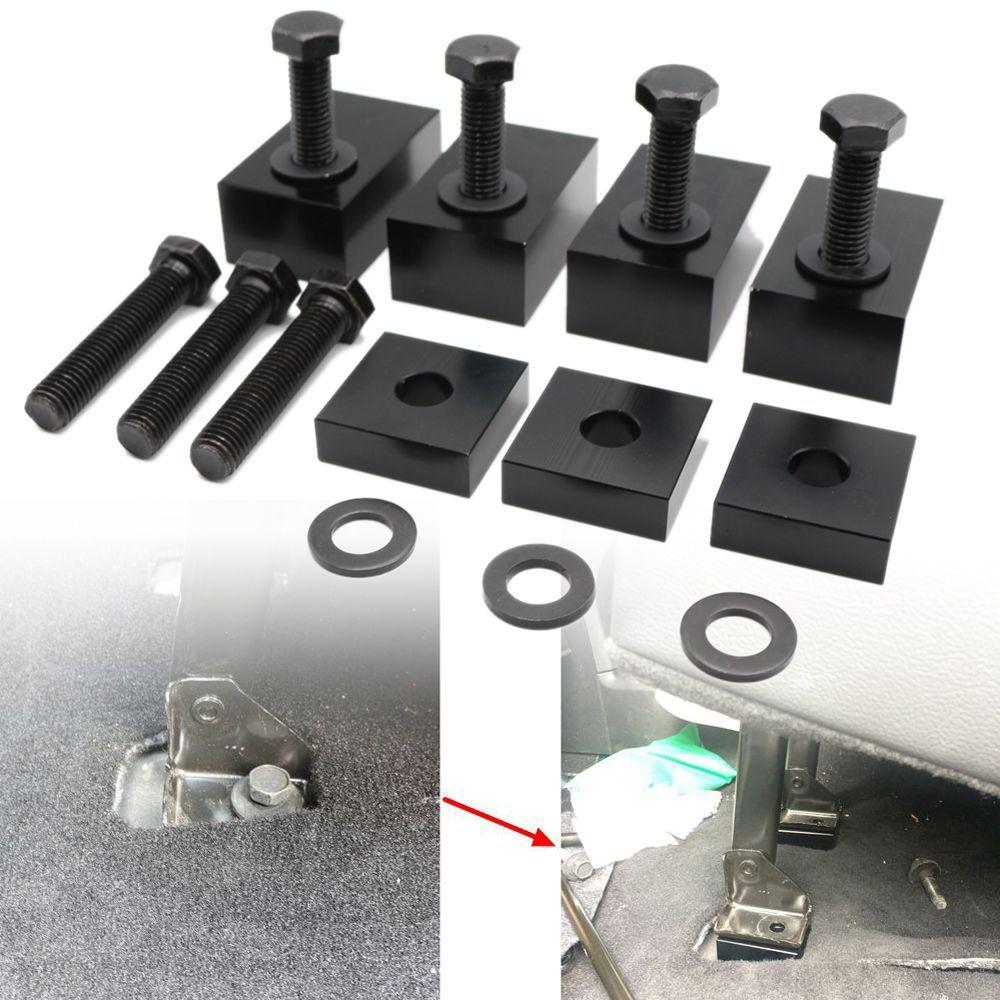 Voor Jeep Wrangler 4 Deur 2007-2017 Black Delrin Plastic Achterbank Leunen Kit Met Bouten En Ringen