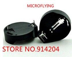 MICROFLYING 20PCS CR2032 2032 <font><b>Battery</b></font> <font><b>Button</b></font> <font><b>Cell</b></font> Coin <font><b>Holder</b></font> Socket Case Black