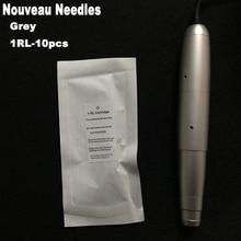 Grey 600D-G Tattoo Needle 1RL Sterilized Tattoo Needle Permanent Makeup Eyebrow Needles For Tattoo Machine Nouveau Contour