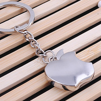 Wholesale 10PCS Lotl Silver Mini Apple Keychain Top Quality Fashion Key Chain For Men Women Best
