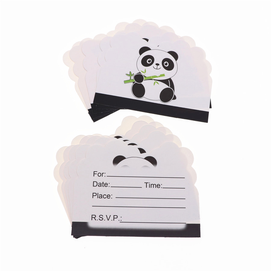 Cartoon Panda Theme Happy Birthday Party Straw Plate Tablecloth set Christmas Wedding For Home decoration in Cake Decorating Supplies from Home Garden
