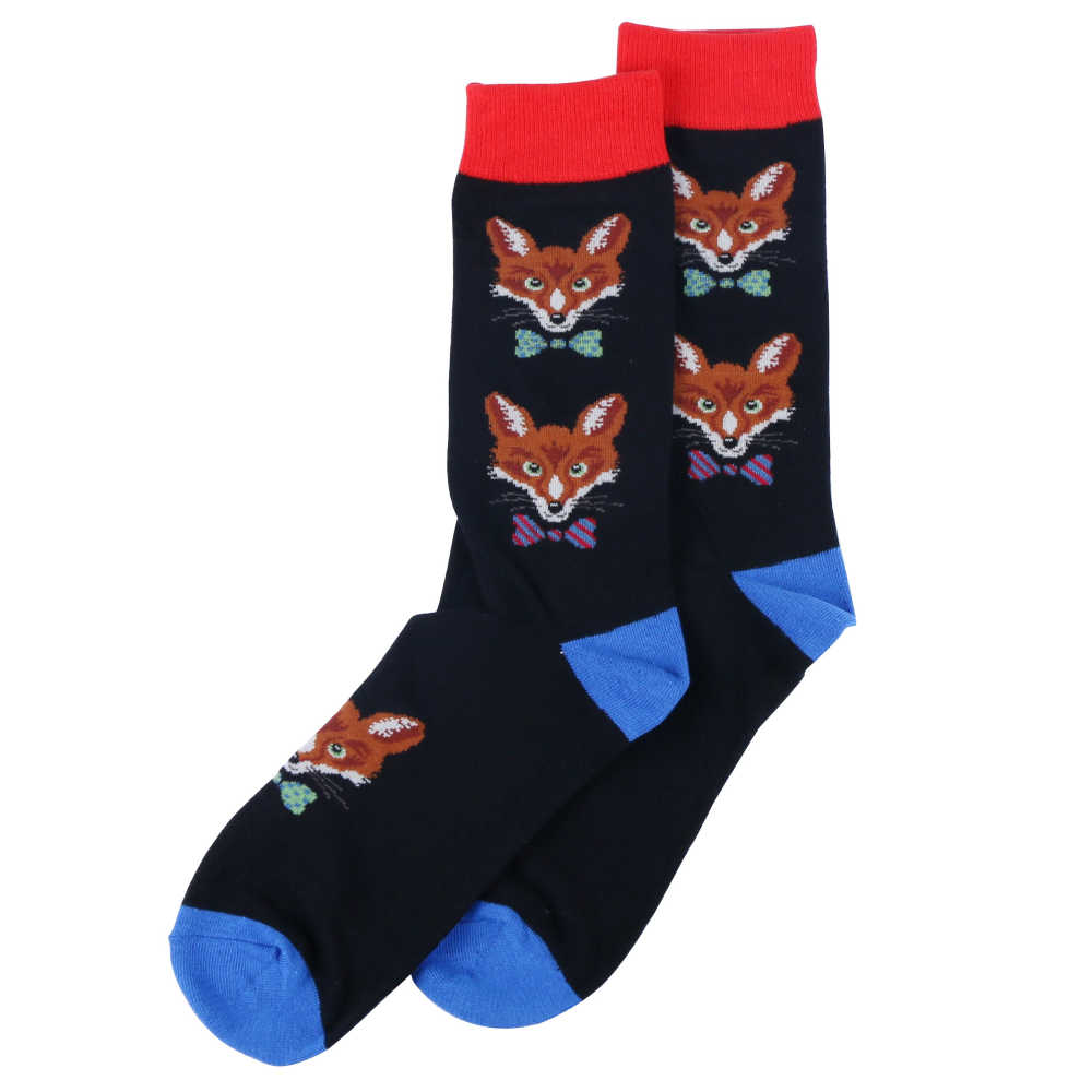 2019 nuovi calzini di moda per le donne degli uomini divertente calzini del fumetto del progettista panda volpe canguro modello animale calzini casuali all'ingrosso