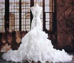 Bridal-Dresses Wedding-Gowns Robe-De-Mariee Crystals Mermaid Princess Luxurious Expensive