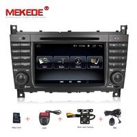 7HD 1024x600 Quad core Car DVD Android 8.1 for Mercedes/Benz C Class W203 c200 C230 C240 C320 C350 CLK W209 GPS Radio WiFi