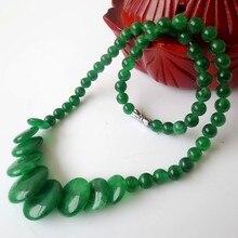 Colar de contas de pedra Natural verde fresco acessórios contas de colar declaração de colares para as mulheres