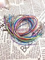 Hot Sale!50pcs 2mm Mix Color Wax Line With Lobster Clasp Lobster Clasp Necklace Cord 45cm Fit Charm Pendant Necklace DIY Making