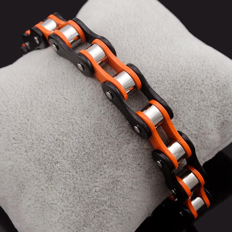 Prix pour Dolaime Mode Femmes Double couleur Acier Inoxydable Bracelet Vélo chaîne Punk Rock Moto chaîne bracelet vente Chaude GB1490