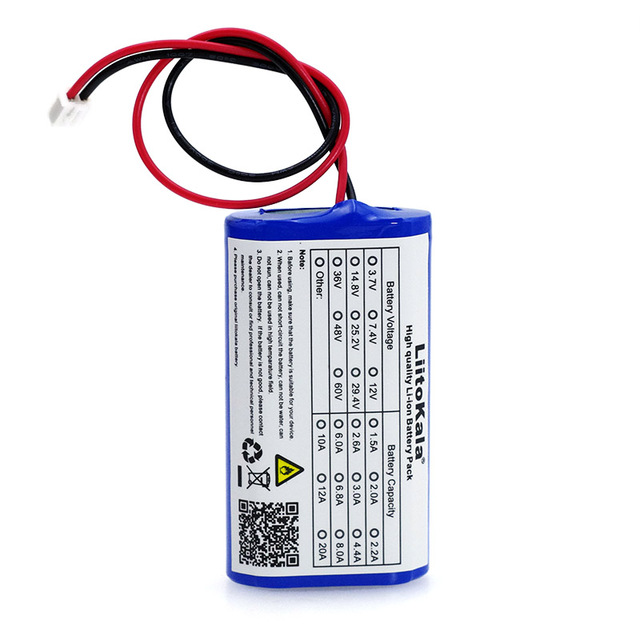 LiitoKala 3.7 فولت 18650 بطارية ليثيوم حزمة 2600mAh 5200mAh الصيد مصباح ليد سمّاعات بلوتوث 4.2 فولت الطوارئ لتقوم بها بنفسك بطاريات + PCB