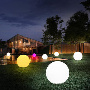 Lighting-Ball Lawn-Lamp Garden-Lights Remote-Control Outdoor Swimming-Pool LED Globe