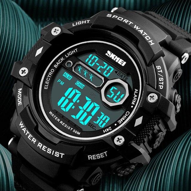 6967c23457a SKMEI Brand Men Sports Watches Fashion Chronos Countdown Men s Waterproof  LED Digital Watch Man Military Clock reloj hombre