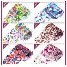 12pcs/set  Holographic Laser Nails Transfer Foil Stickers Mix Pattern Manicure DIY Nail Art Decorations Decals