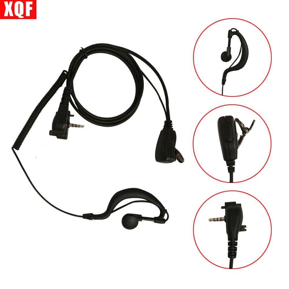 XQF Earpiece Headset with PTT for For Vertex Standard VX131 VX230 VX231 VX261 walkie talkie