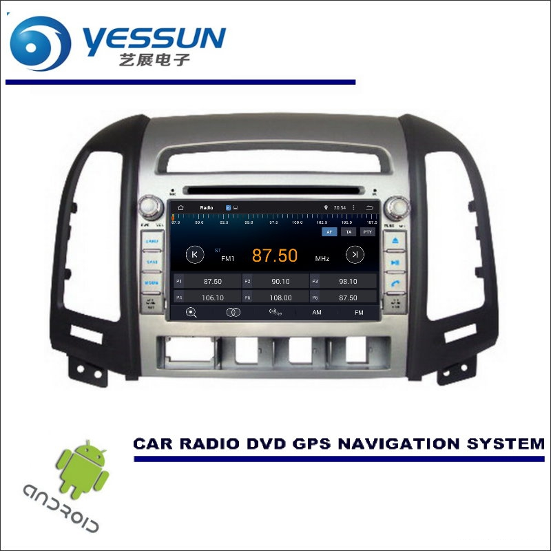 YESSUN Car Navigation For Hyundai Santa Fe 2006~2012 Multimedia DVD CD GPS Player Navi Stereo Radio HD Screen Wince / Android yessun car android navigation system for hyundai i20 click 2008 2014 radio stereo cd dvd player gps navi screen multimedia