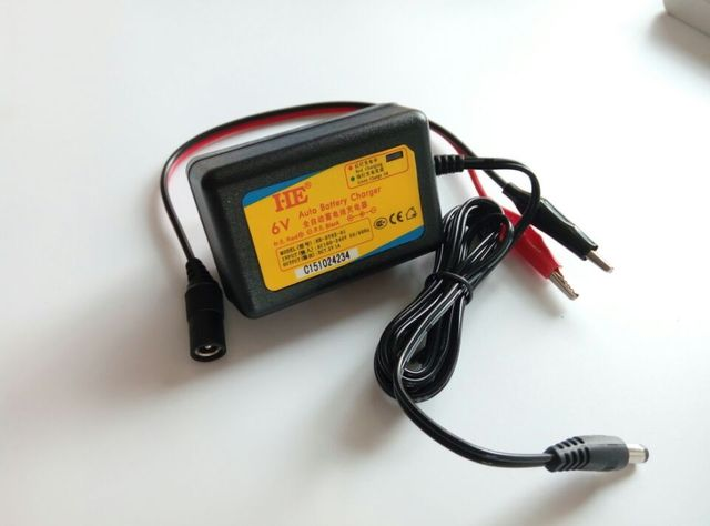 Portable 6V 1A smart lead acid battery charger 6v Smart charger electric toy car battery charger dc 7.2v 1a 3.5mm