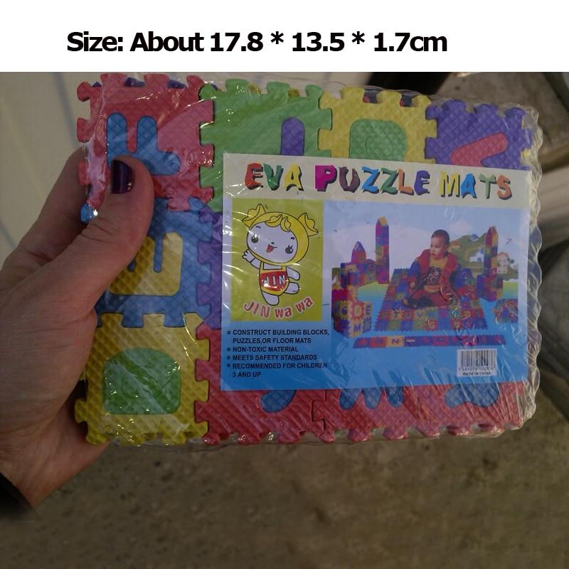 pcs Set Children Alphabet Letters Numerals Puzzle Colourful Kids Rug Play Mat Soft Floor Crawling Puzzle