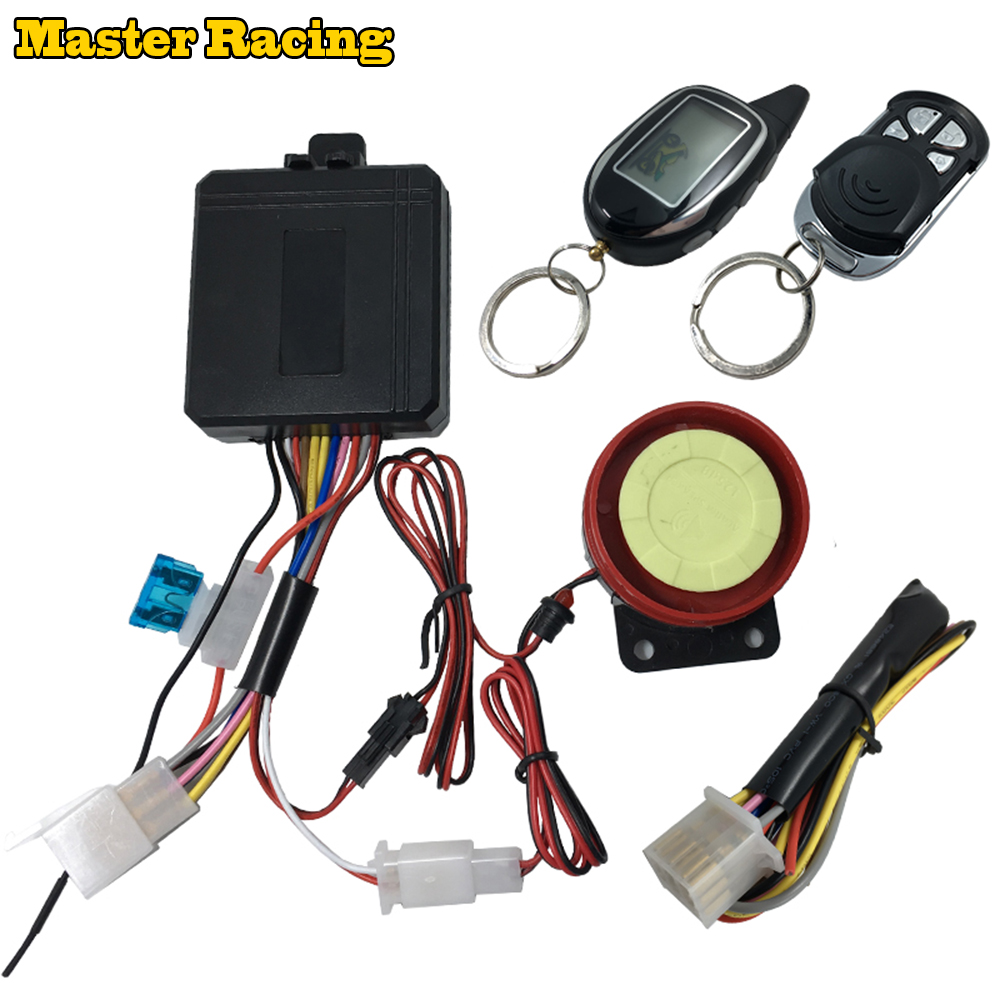 12v Two Way Motorcycle motion sensor Alarm Remote Engine Start Stop System Scooter Anti-theft Burglary Alarm Arm reminding цена 2017